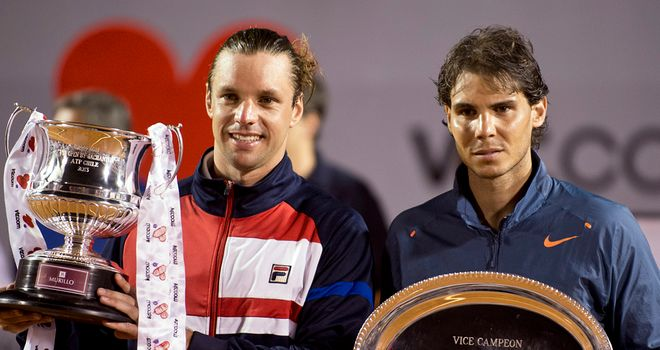 Horacio Zeballos, left, with Rafa Nadal
