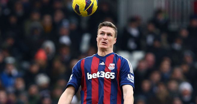 Robert Huth: Stoke defender clashed with Fulham's Philippe Senderos