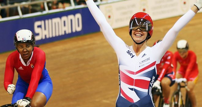 Becky James claimed her second gold and fourth medal of the world championships