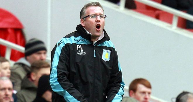 Paul Lambert: Will be hoping to record Aston Villa's third away win of the season.