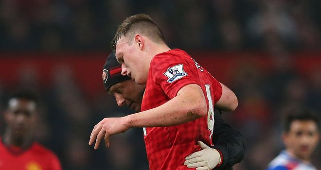 Phil Jones: Left Old Trafford on crutches after FA Cup win
