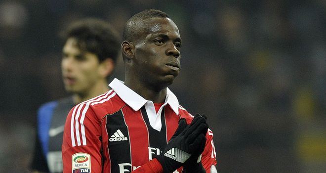 Mario Balotelli: Taunted during derby draw with Inter