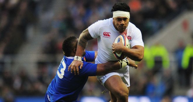 Manu Tuilagi: Scored the solitary try to keep England on course for Slam success