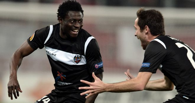 Obafemi Martins: The striker scored the only goal of the game in Athens