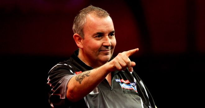 Phil Taylor: Is expected to recover from his disappointing draw with James Wade by beating Gary Anderson
