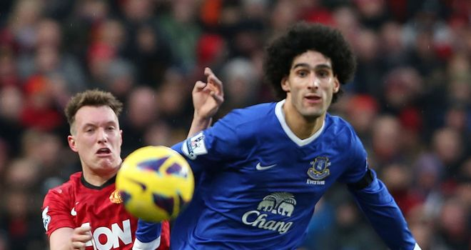Phil Jones impressed on Sunday in being charged with keeping an eye on Marouane Fellaini