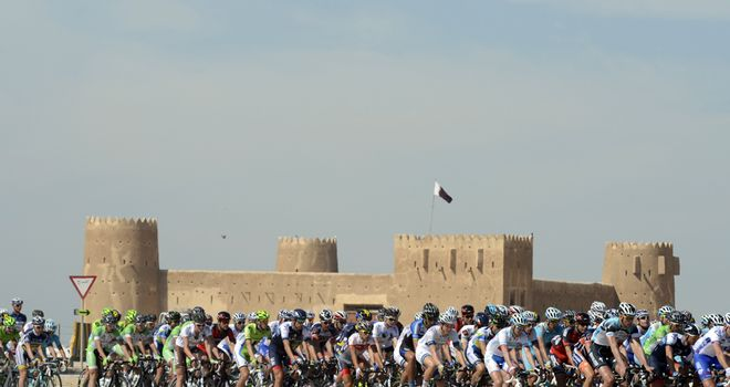 The Tour of Qatar takes place on flat but exposed roads