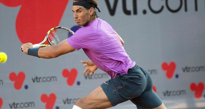 Rafael Nadal: Dominated the final set against Martin Alund.
