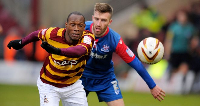Kyel Reid and Matt Fish: Chase the ball at Valley Parade