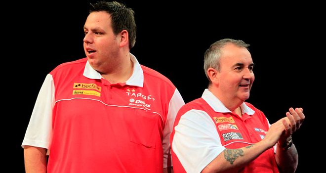Adrian Lewis (L): Closed out England triumph on double eight