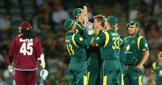 James Faulkner: Australia paceman celebrates after bowling Chris Gayle