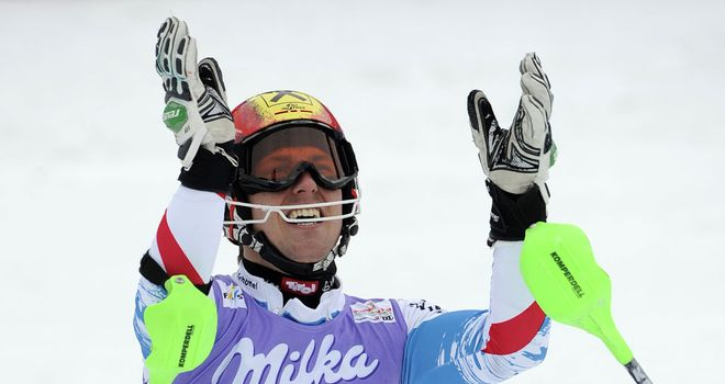 Marcel Hirscher: Delighted the home fans in Schladming