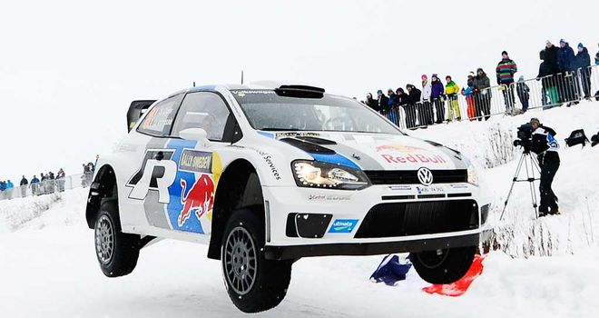Sebastien Ogier: Frenchman on his way to victory in the Rally of Sweden