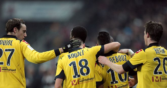 Sochaux celebrate an unlikely victory