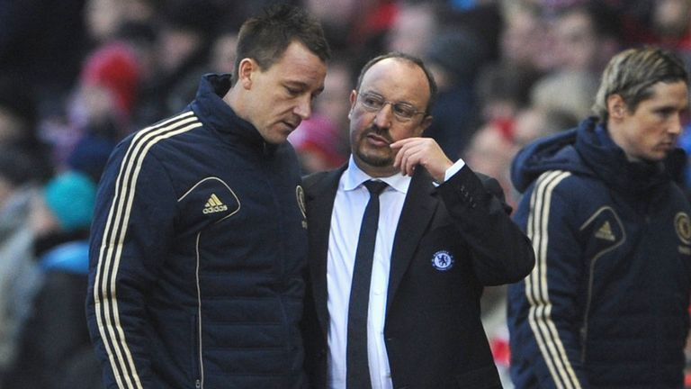 John Terry and Rafa Benitez: Had a training ground bust-up on Monday