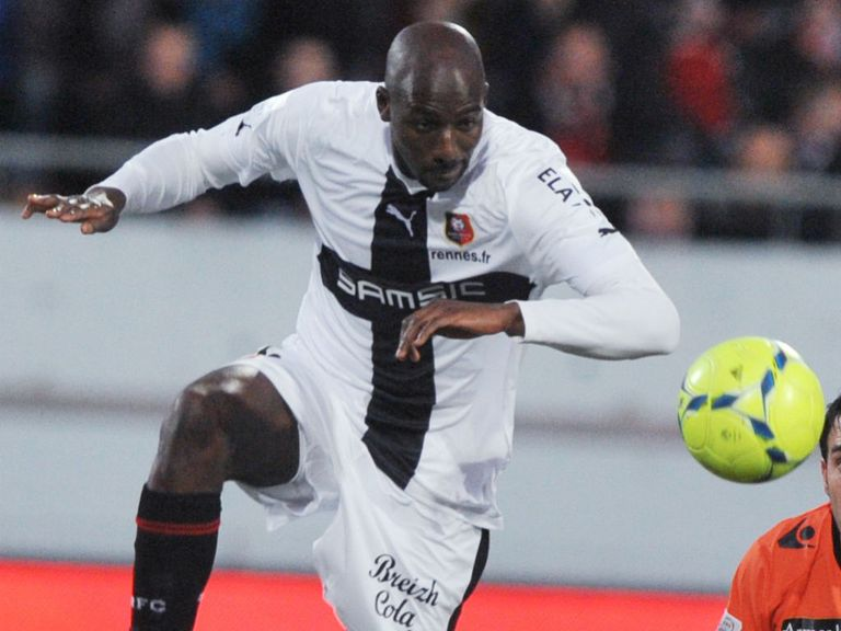 Alou Diarra: Working on his fitness at Rennes