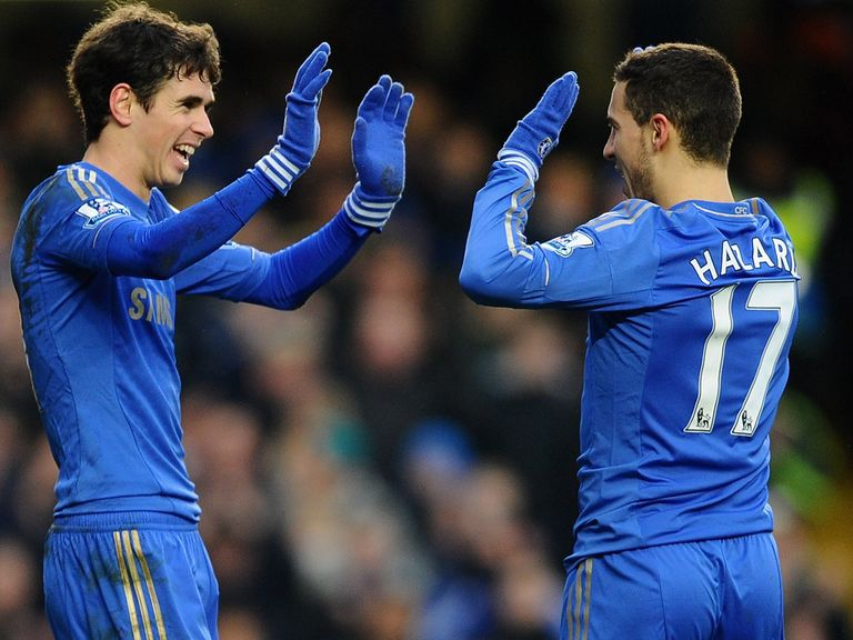 Hazard (right): Back in action for Chelsea