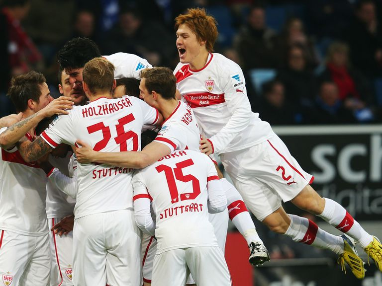 Stuttgart won 1-0 at Hoffenheim on Sunday.