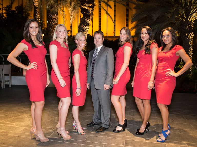 Iain Bates with the GB Fed Cup team in Israel last week