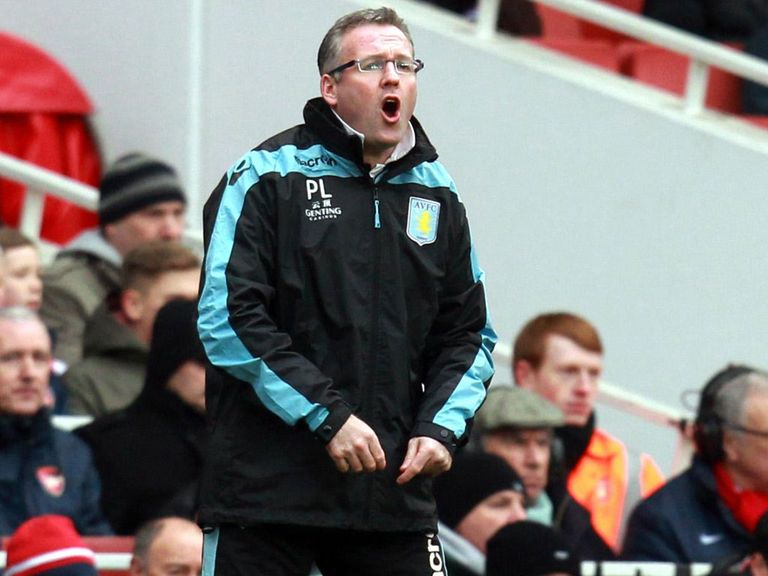Paul Lambert: His side face Man City on Monday evening