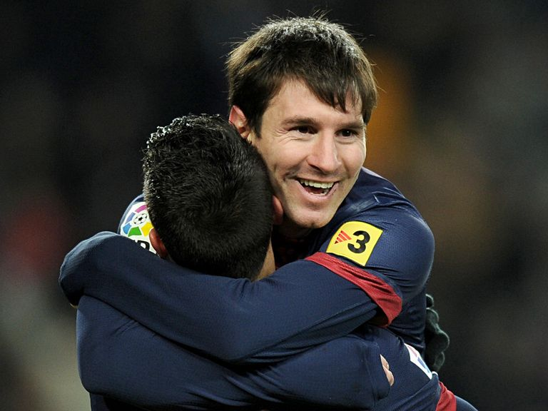 David Villa and Lionel Messi still get on.