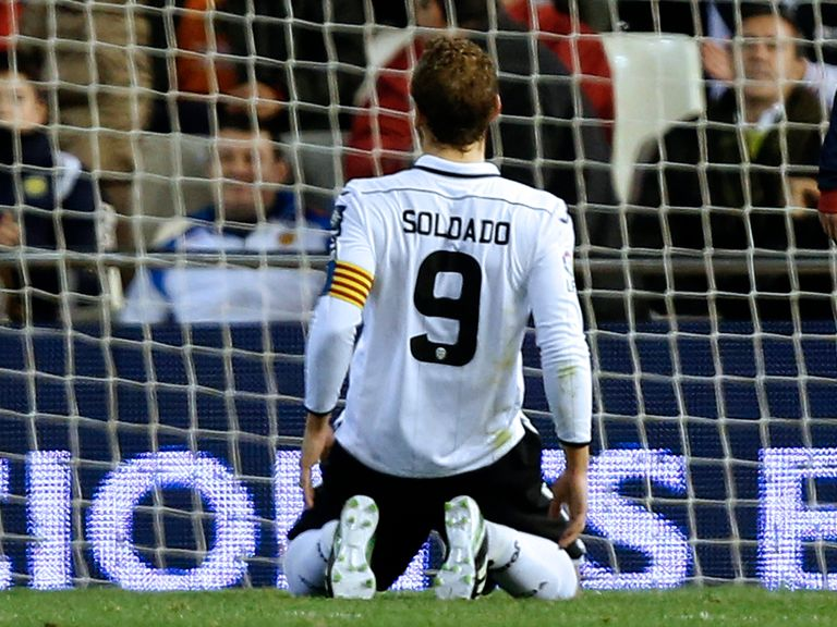 Soldado: Denied by Valdes in 1-1 draw