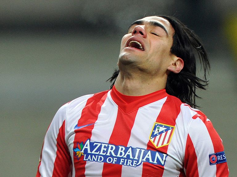 Falcao shows his frustration for Atletico Madrid