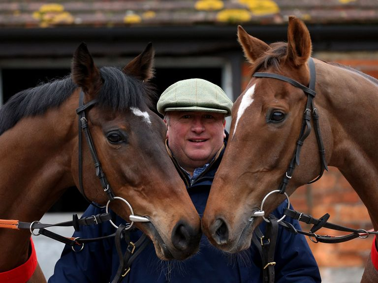 Paul Nicholls with Zarkandar and Silviniaco Conti