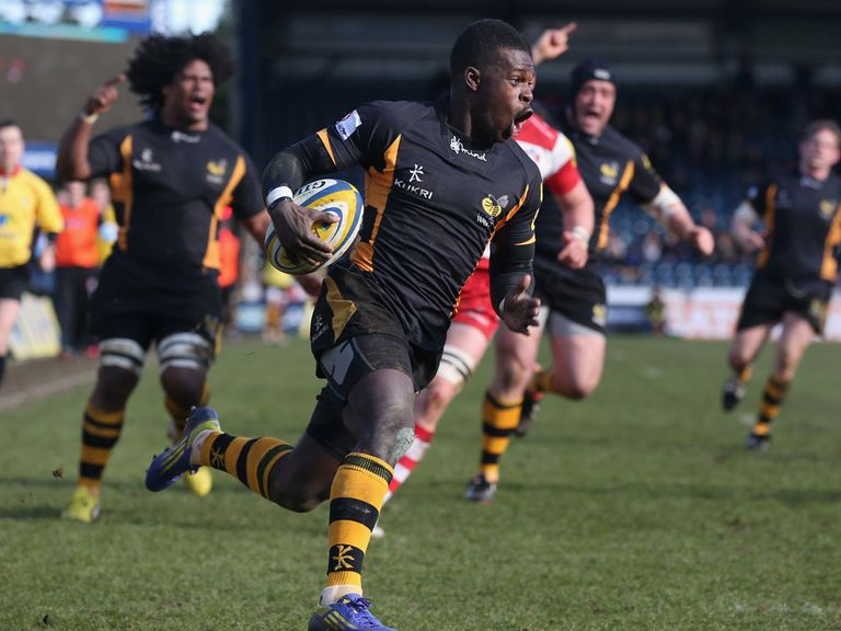 Christian Wade scored a try for Wasps against Gloucester