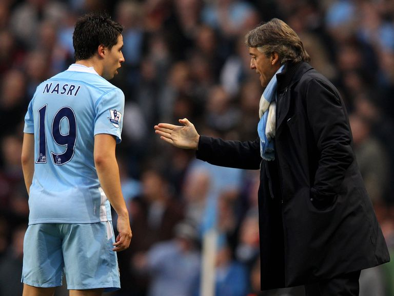 Samir Nasri: Frustrates his Manchester City manager Roberto Mancini