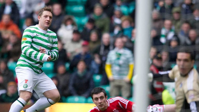 Kris Commons opens the scoring against Aberdeen