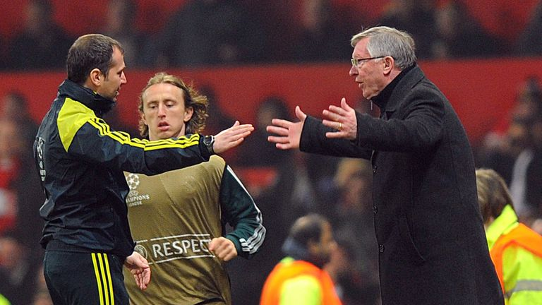 Sir Alex Ferguson: Manchester United manager expresses his frustration after Nani's red card against Real Madrid