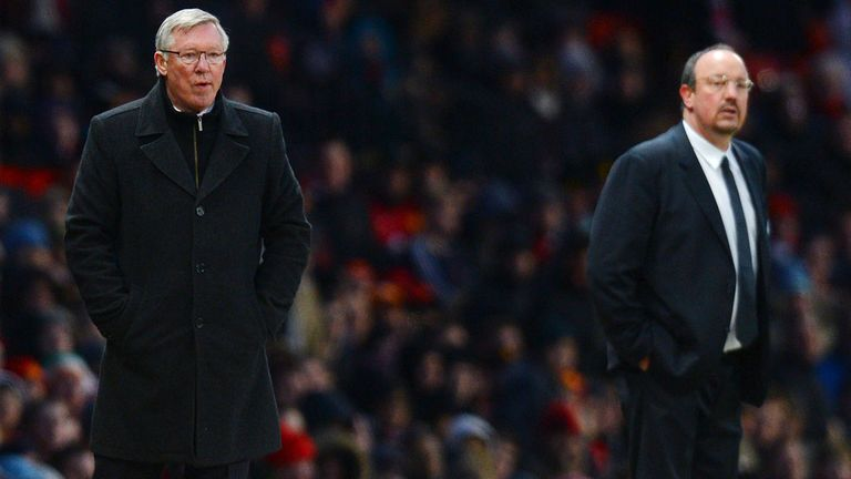 Rafa Benitez will be hoping to get one over Sir Alex Ferguson at Old Trafford on Sunday