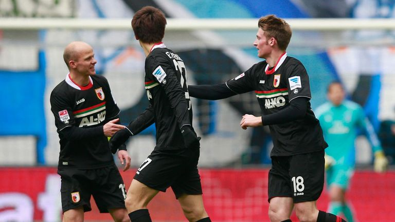 Callsen Bracker (r) scored the decisive goal in Hamburg
