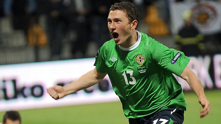 Corry Evans, pictured here scoring against Slovenia, is in the frame to face Israel