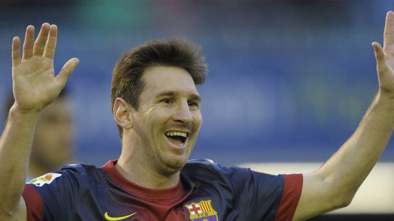 Lionel Messi scored for the 19th straight league game