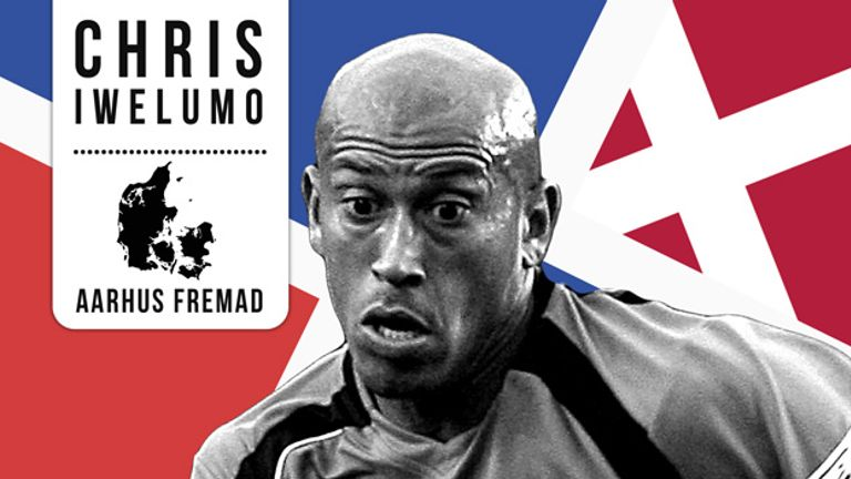 Chris Iwelumo had his first taste of football abroad in the Danish top flight