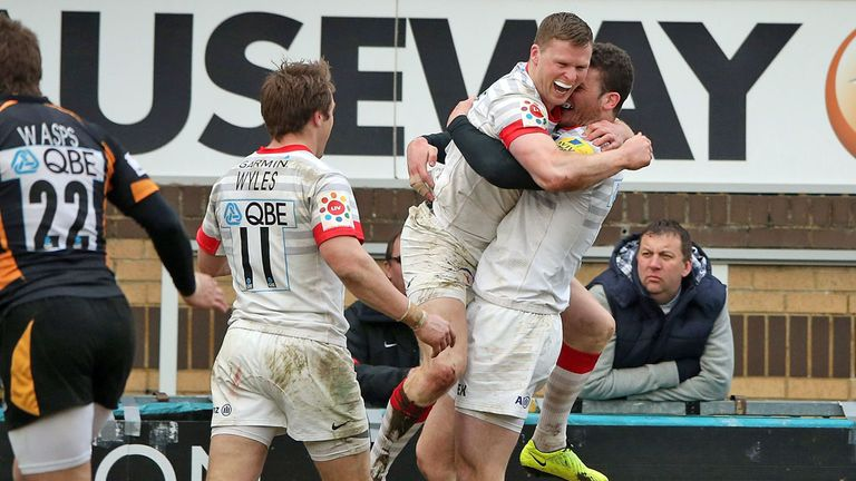 Chris Ashton: Celebrates key try at Wasps