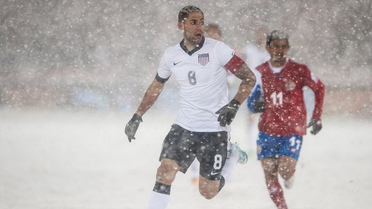 Clint Dempsey: Battles the conditions in Denver