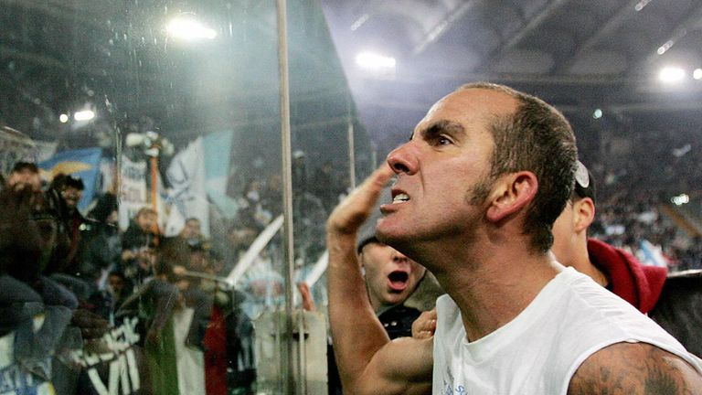 Paolo Di Canio: Was pictured in 2005 making a raised-arm salute to a group of supporters during his time at Lazio