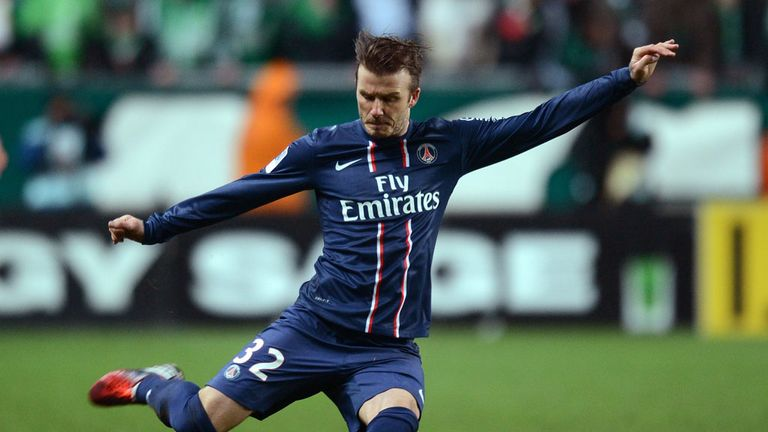David Beckham: Will captain PSG against Brest