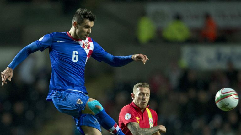 Dejan Lovren: New Southampton defender in action for Croatia against Wales