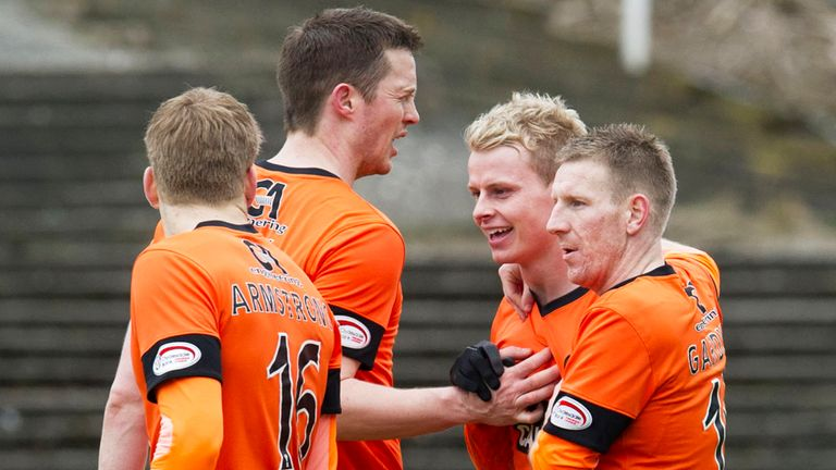 Dundee United: Celebrations the order of the day at Dens Park
