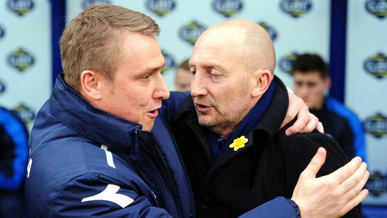 Ian Holloway: Greets Lee Clark before Palace's mauling by Birmingham