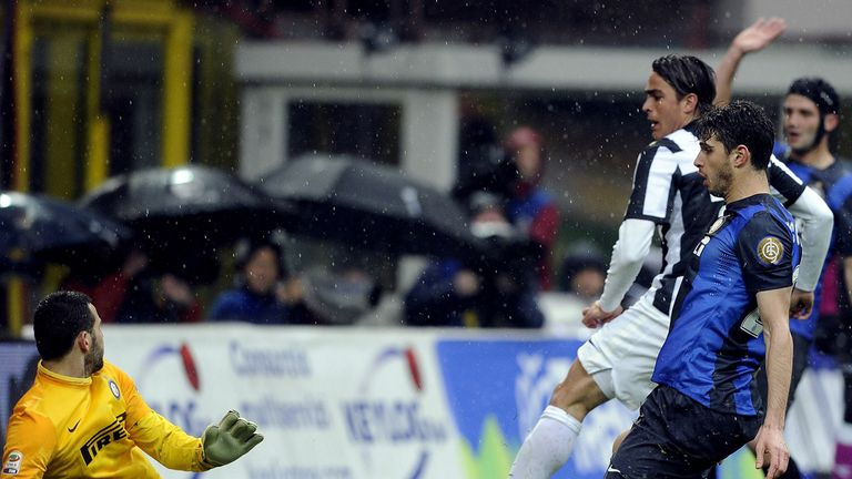Alessandro Matri finds the net for Juve