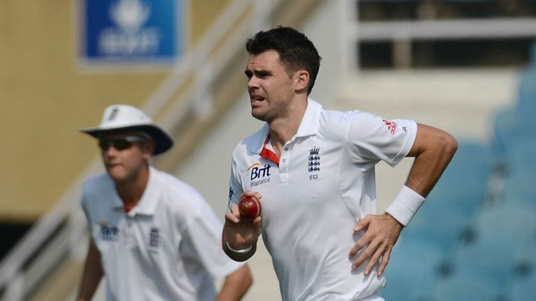 James Anderson: took two wickets in a rare Lancashire outing
