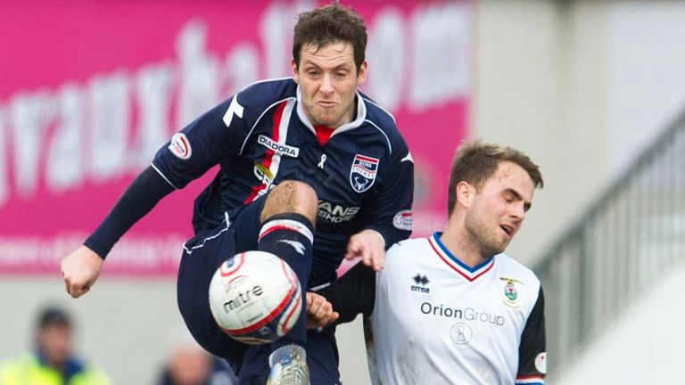 Paul Lawson (left) in action against Inverness
