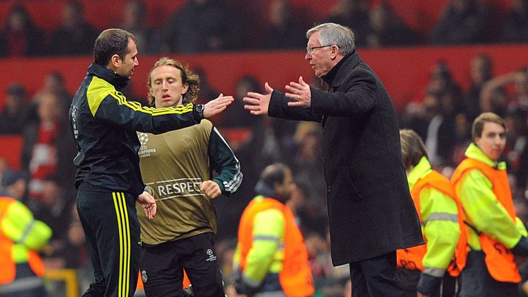 Sir Alex Ferguson: Manchester United manager vents his fury on the touchline at Old Trafford