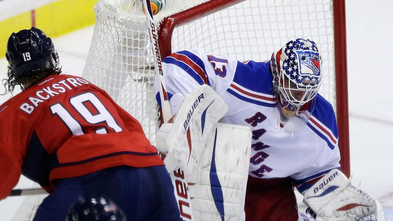 Martin Biron made 28 saves for the Rangers in Sunday's 4-1 victory over the Washington Capitals