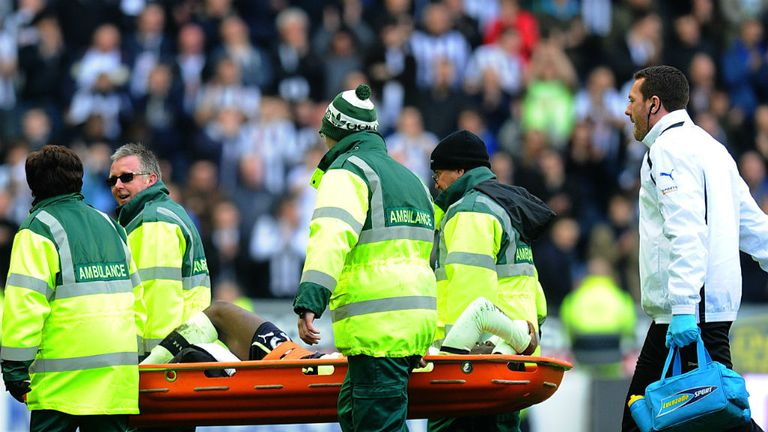 Massadio Haidara: Was stretchered off after McManaman challenge